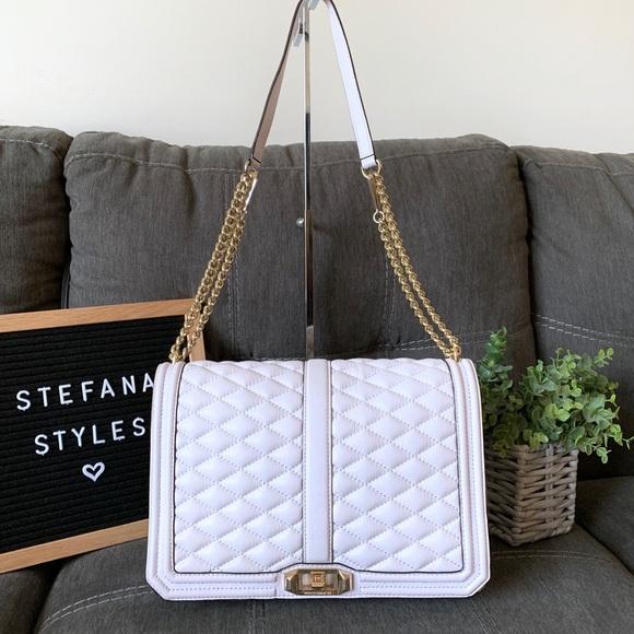 Rebecca Minkoff Handbags - Rebecca Minkoff Lilac Quilted Flap Chain Love Bag